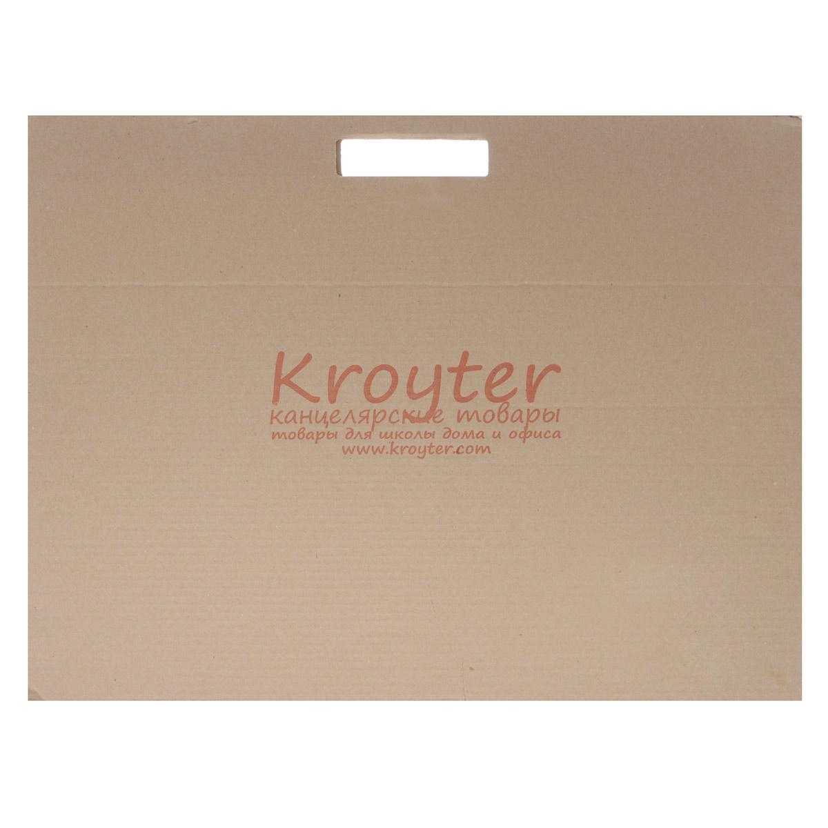 Папка для черчения Kroyter, 10 листов, формат А205329Папка для черчения Kroyter содержит 10 листов плотной бумаги, предназначеннойдля черчения и рисования водорастворимыми красками, карандашами, мелками,ручками. Не рекомендуется для масляных красок. Обложка выполнена из гофрированного картона в виде папки-переноски с ручками,такой вариант позволяет переносить бумагу без повреждений или хранить в ней ужевыполненные работы. Формат: А2 (420 х 594).