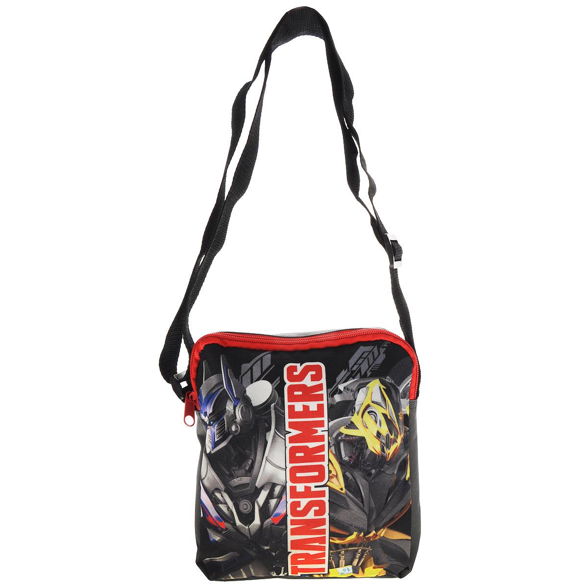Сумка детская на плечо Transformers Prime, цвет: серый
