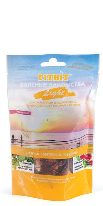 """Лакомство для собак Titbit """"Light"""", вяленые ломтики из говядины, 40 г"""
