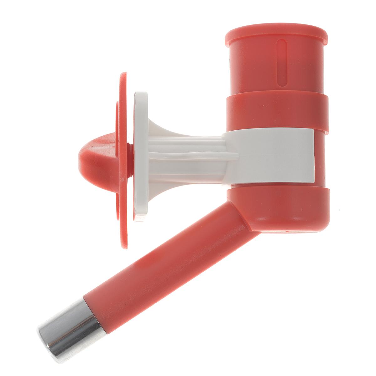 Автопоилка для животных, универсальная, цвет: красный378Автопоилка универсальная с шариковым механизмом, изготовленная из ABSпластика и нержавеющей стали, позволяет получать оптимальные порциижидкости в экономном режиме. Подходит для мелких животных.Автопоилка крепится на клетку.Подходит под любые ПЭТ бутылки.