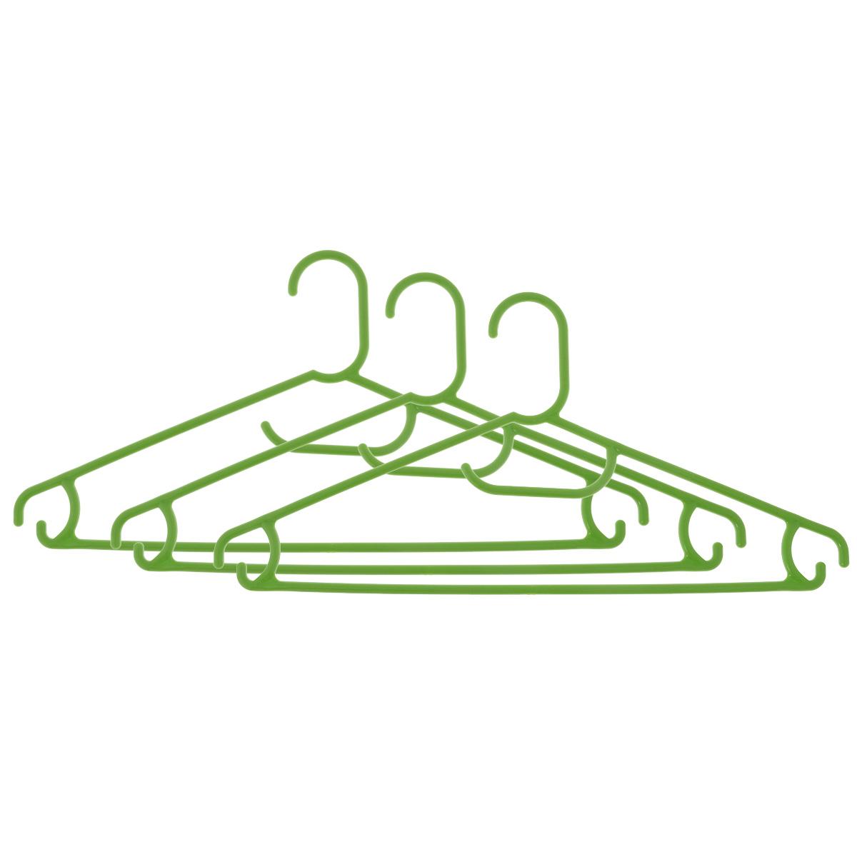 Набор вешалок Econova, цвет: салатовый, размер 48, 3 штС12354Набор Econova выполненный из прочного пластика, состоит из 3 вешалок.Каждое изделие оснащено перекладиной, боковыми крючками, а также крючком для галстуков. Вешалка - это незаменимая вещь для того, чтобы ваша одежда всегда оставалась в хорошем состоянии.Комплектация: 3 шт.Размер одежды: 48.