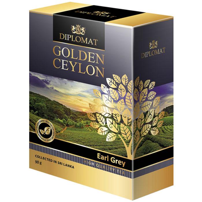 Diplomat Earl Grey черный байховый чай с бергамотом, 90 г4623721162251Diplomat Earl Grey - чай с бергамотом, впервые завезенный в Европу английским дипломатом 19 века графом Чарльзом Греем пользуется огромной популярностью в мире и в особенности в Великобритании. Это аристократический купаж из специально отобранного цейлонского чая и натурального масло бергамота. Чайный лист отменного качества дает яркий красноватый настой с вяжущим бархатистым вкусом. Бергамот оттеняет и смягчает терпкость черного чая, насыщает напиток теплым, уютным ароматом пряностей. Diplomat Earl Grey отлично помогает снять нервное напряжение и избавиться от усталости.