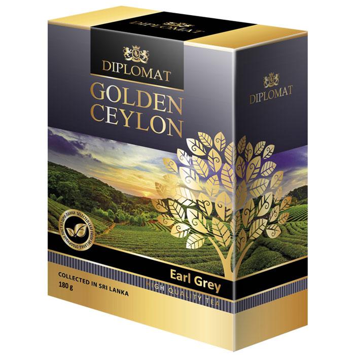 Diplomat Earl Grey черный байховый чай с бергамотом, 180 г4623721006036Diplomat Earl Grey - чай с бергамотом, впервые завезенный в Европу английским дипломатом 19 века графом Чарльзом Греем пользуется огромной популярностью в мире и в особенности в Великобритании. Это аристократический купаж из специально отобранного цейлонского чая и натурального масло бергамота. Чайный лист отменного качества дает яркий красноватый настой с вяжущим бархатистым вкусом. Бергамот оттеняет и смягчает терпкость черного чая, насыщает напиток теплым, уютным ароматом пряностей. Diplomat Earl Grey отлично помогает снять нервное напряжение и избавиться от усталости.