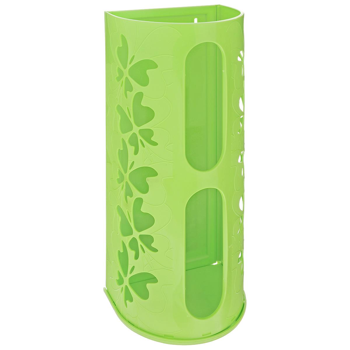 Корзина для пакетов Berossi Fly, цвет: салатовый, 16 х 13 х 37,5 смИК10338Корзина Berossi Fly выполнена из пластика и предназначена для хранения пакетов для продуктов. Изделие декорировано перфорацией в виде бабочек и крепится к стене при помощи трех саморезов (входят в комплект). Корзина легко собирается и разбирается. Имеет два отверстия, из которых удобно вынимать пакеты.Корзина Berossi Fly позволяет хранить пакеты в одном месте. Размер корзины (в собранном виде): 16 см х 13 см х 37,5 см.