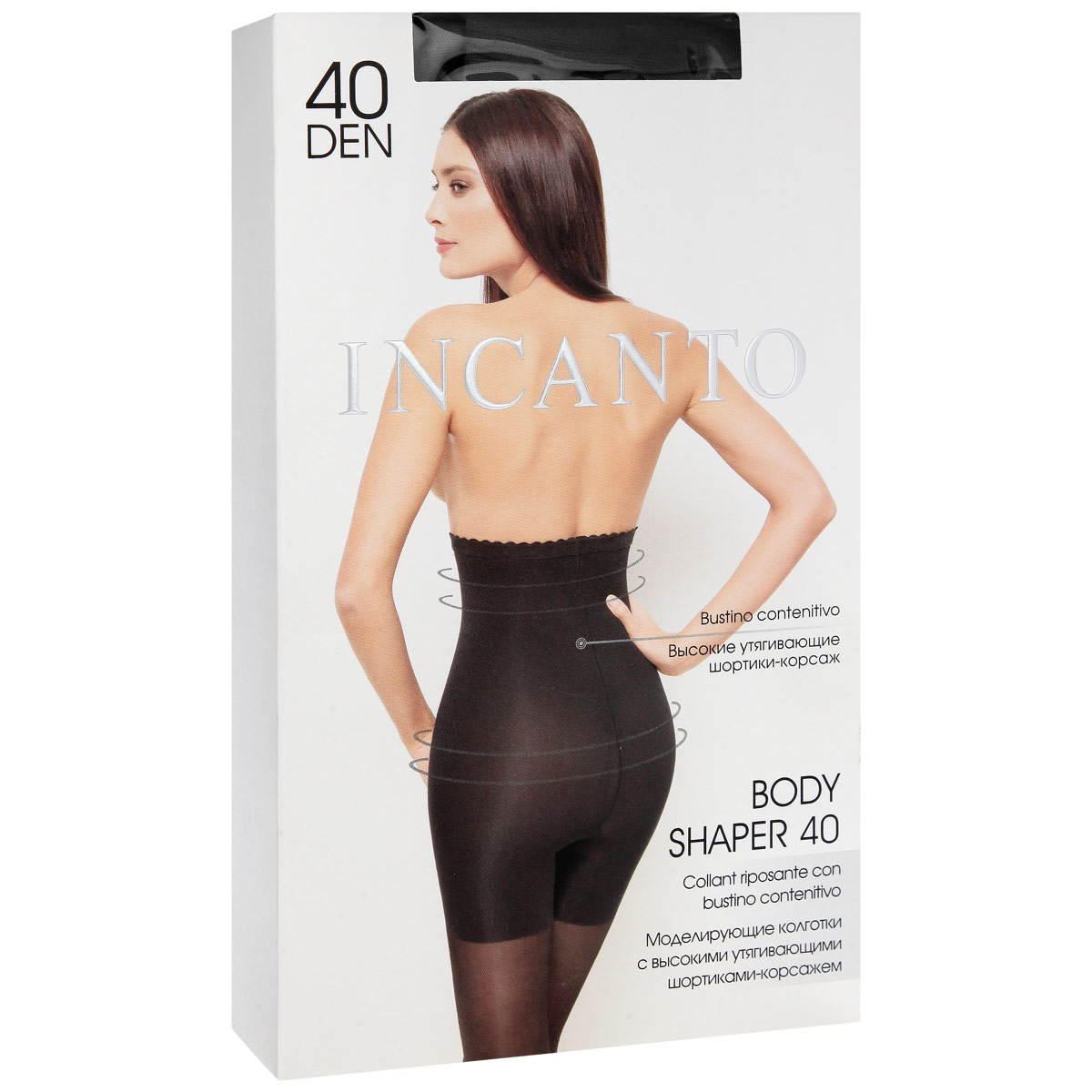 Колготки моделирующие Incanto Body Shaper 40, цвет: Nero (черный). Размер 5 люсеро колготки с микрокапсулами моделирующие р s m черные