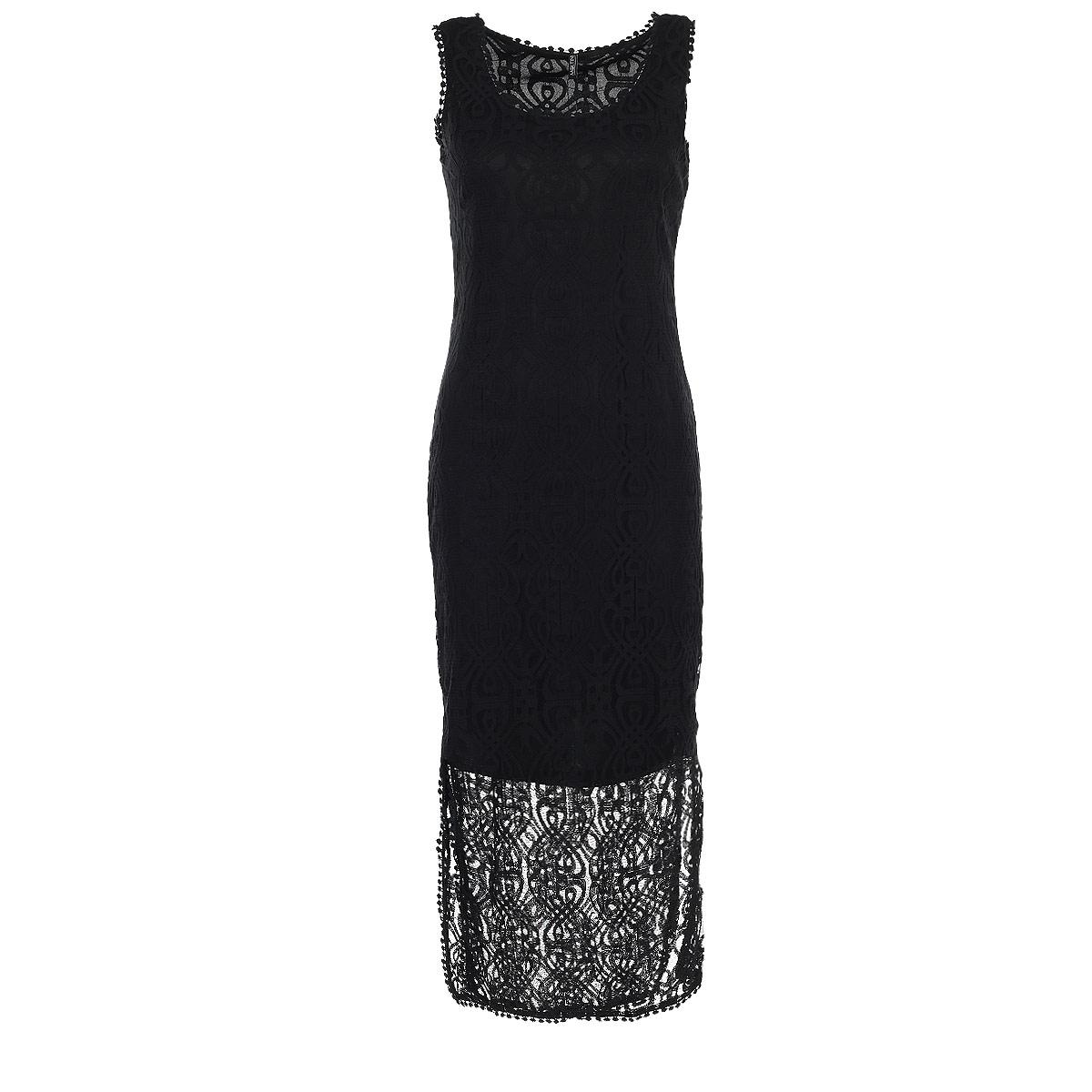 Купить Платье Moltini, цвет: черный. 16B006. Размер M/L (46-48)