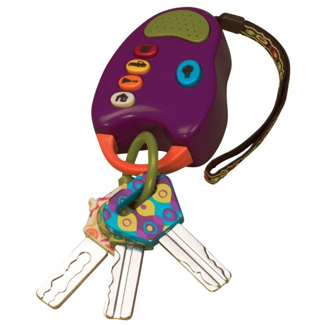 B.Dot Развивающая игрушка Набор ключиков на брелоке цвет фиолетовый
