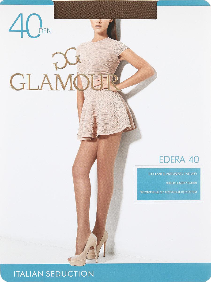 Колготки Glamour Edera 40, цвет: Daino (загар). Размер 5Edera 40Прозрачные эластичные колготки с шортиками, комфортным поясом и прозрачным укрепленным мыском.Плотность: 40 den.