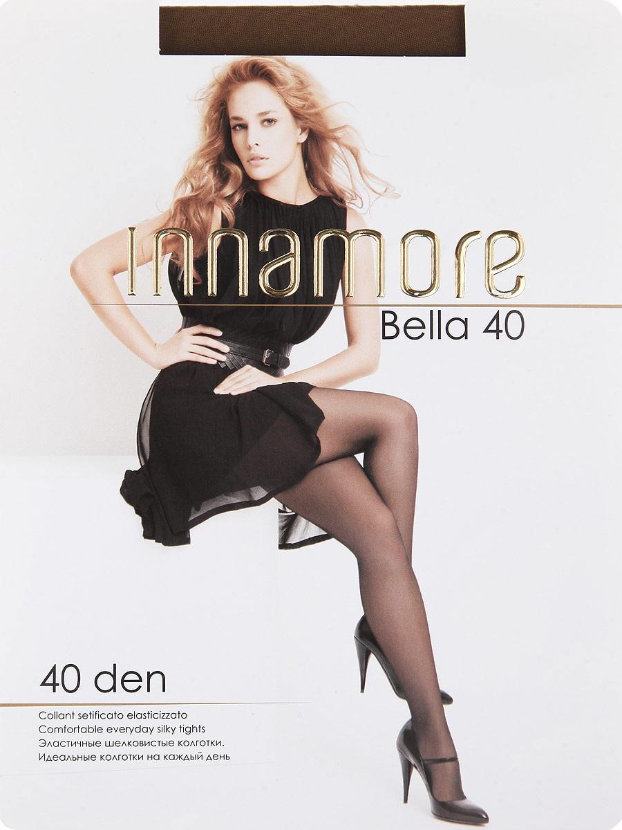 Колготки Innamore Bella 40, цвет: Daino (загар). Размер 4Bella 40Эластичные шелковистые колготки с шортиками, комфортным поясом, укрепленным прозрачным мыском. Идеальные колготки на каждый день. Плотность: 40 den.