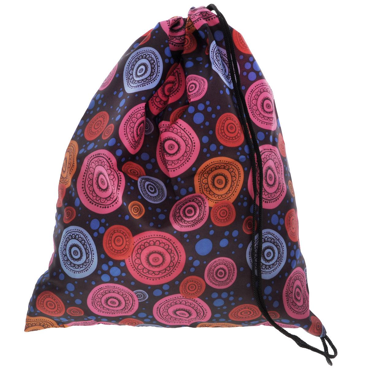 Eva Сумка для сменной обуви цвет голубой розовый оранжевыйЕ25Сумку для сменной обуви Eva удобно использовать как для хранения, так и для переноски сменной обуви. Она выполнена из прочного полиэстера и затягивается сверху текстильными шнурками. Плотный материал обеспечит надежность и долговечность сумки.