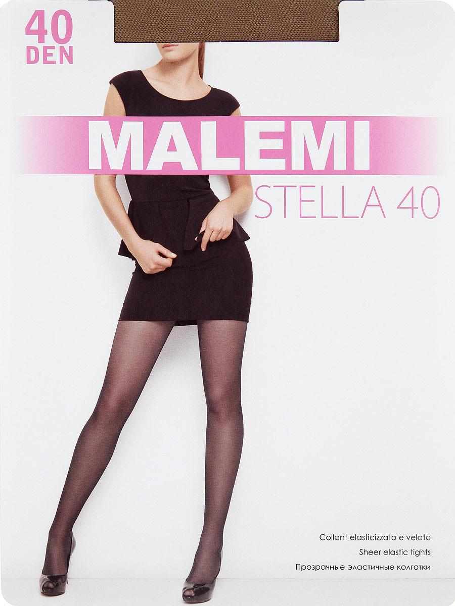 Колготки Malemi Stella 40, цвет: Daino (загар). Размер 4Stella 40Прозрачные эластичные колготки с шортиками, комфортным поясом и прозрачным укрепленным мыском.Плотность: 40 den.