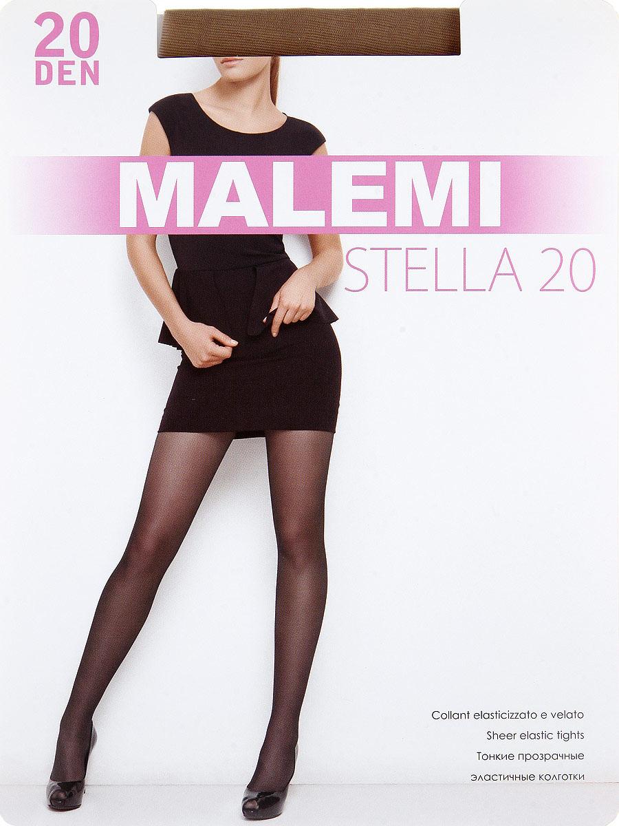 Колготки Malemi Stella 20, цвет: Daino (загар). Размер 5 колготки giulia bikini размер 3 плотность 40 den daino