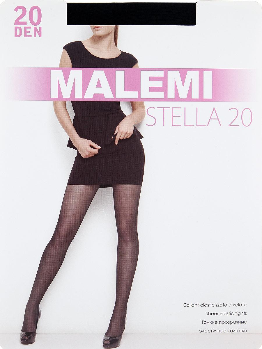 Колготки Malemi Stella 20, цвет: Nero (черный). Размер 5 колготки filodoro slim control top размер 2 плотность 40 den nero