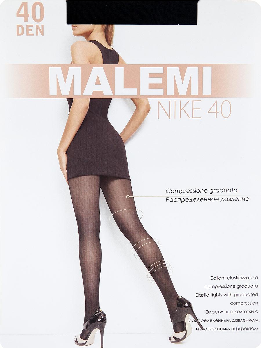 Колготки Malemi Nike 40, цвет: Nero (черный). Размер 4Nike 40Тонкие эластичные колготки с шортиками, массажным эффектом и распределенным по ноге давлением. Стимулируют кровообращение и снимают усталость. Комфортный пояс, хлопковая гигиеническая ластовица, укрепленный прозрачный мысок.Плотность: 40 den.