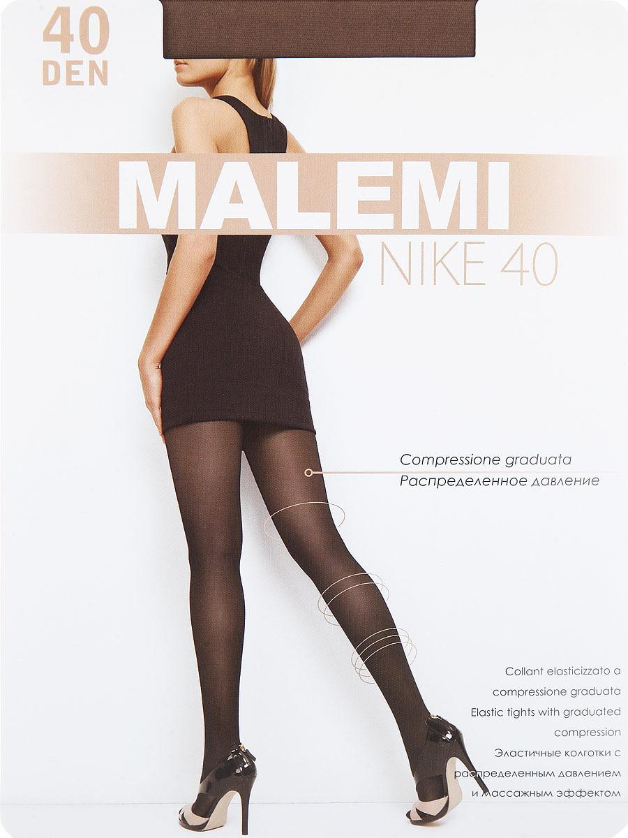 Колготки Malemi Nike 40, цвет: Daino (загар). Размер 4Nike 40Тонкие эластичные колготки с шортиками, массажным эффектом и распределенным по ноге давлением. Стимулируют кровообращение и снимают усталость. Комфортный пояс, хлопковая гигиеническая ластовица, укрепленный прозрачный мысок.Плотность: 40 den.