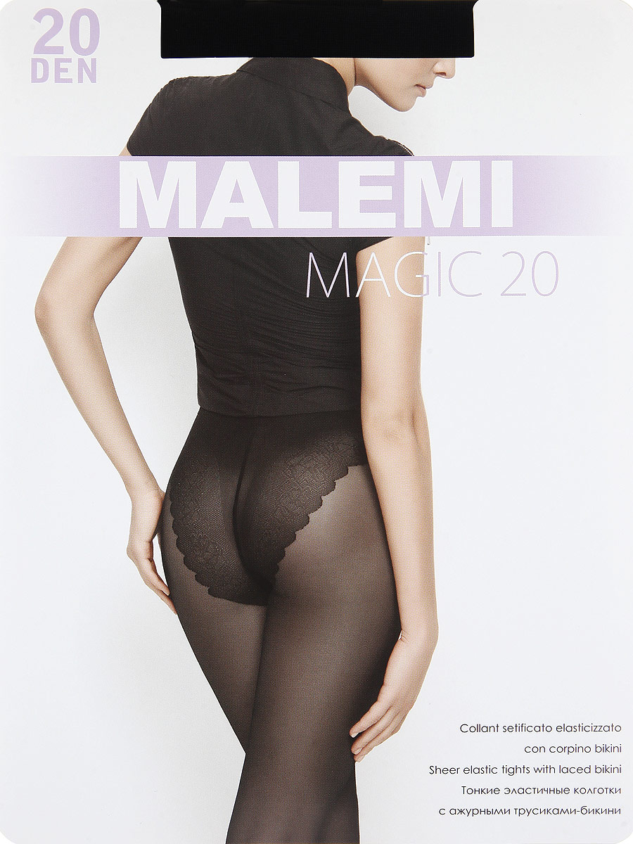 Колготки Malemi Magic 20, цвет: Nero (черный). Размер 4Magic 20Тонкие эластичные колготки с ажурными трусиками-бикини. Комфортный пояс, гигиеническая ластовица, укрепленный прозрачный мысок.Плотность: 20 den.