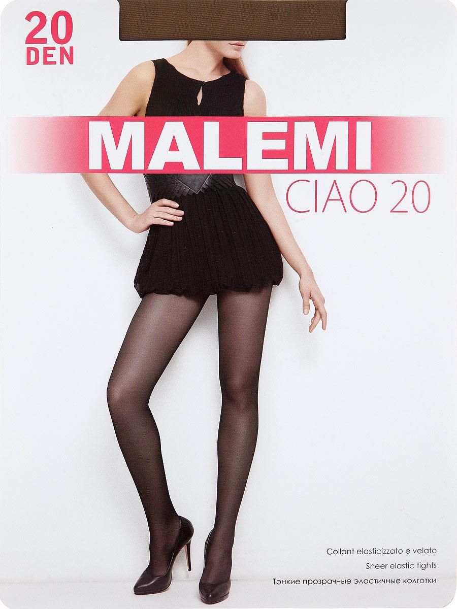 Колготки Malemi Ciao 20, цвет: Daino (загар). Размер 4Ciao 20Тонкие прозрачные эластичные колготки с шортиками, комфортным поясом и прозрачным укрепленным мыском.Плотность: 20 den.