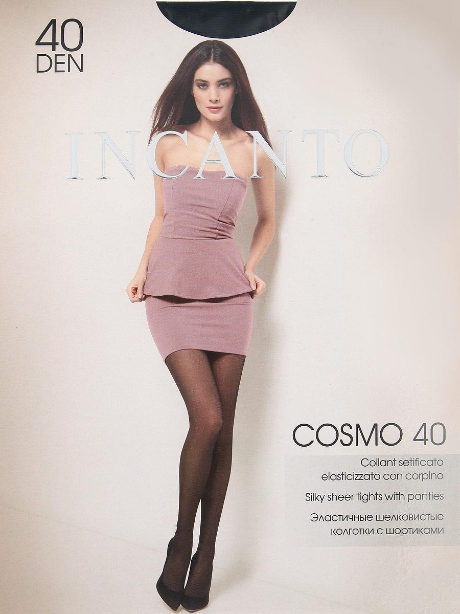 Колготки Incanto Cosmo 40, цвет: Nero (черный). Размер 3Cosmo 40Эластичные шелковистые колготки с шортиками, комфортным поясом и прозрачным укрепленным мыском.Плотность: 40 den.