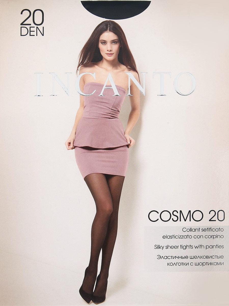 Колготки Incanto Cosmo 20, цвет: Nero (черный). Размер 4Cosmo 20Эластичные шелковистые колготки с шортиками, комфортным поясом и прозрачным укрепленным мыском.Плотность: 20 den.