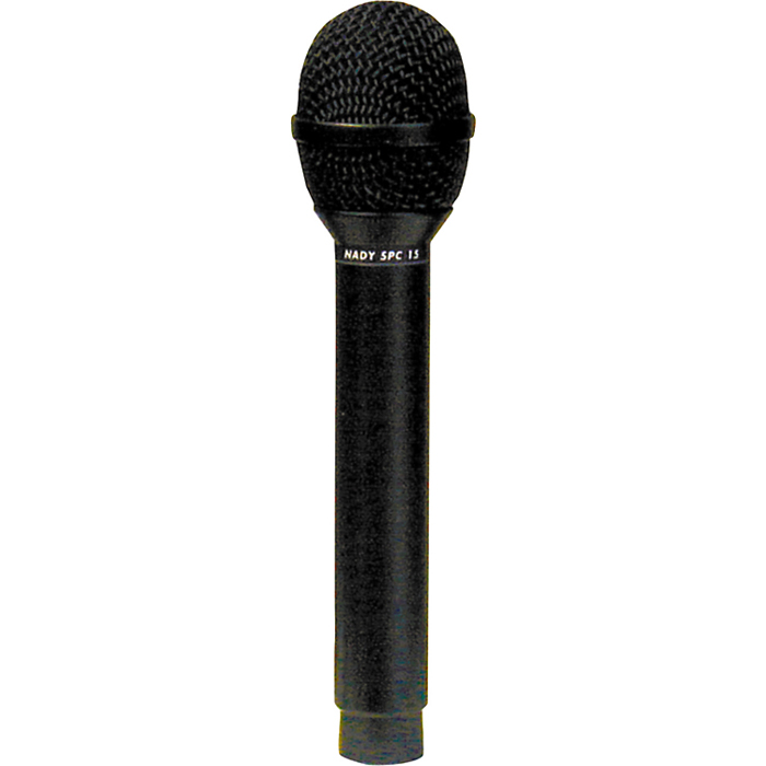 Nady SPC-15, Black микрофонSPC-15Универсальный микрофон Nady SPC-15 подходит для использования в качестве и вокального, и инструментального микрофона в концертных и студийных условиях. Он имеет электретную конденсаторную бестрансформаторную цепь. Мембрана закреплена в медном корпусе на специальном подвесе, предохраняющем от вибраций. Частотный диапазон 50 Гц - 18 кГц, с выраженной серединой и верхом для прозрачности звучания вокала и инструментов. Длямаксимального уменьшения эффекта обратной связи SPC-15 имеет суперкардиоидную диаграмму направленности и широкий динамический диапазон, он способен выдерживать высокое звуковое давление (136 дБ). Микрофону требуется фантомное питание +48 В.