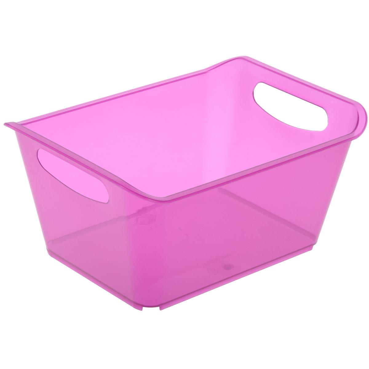 Контейнер Gensini, цвет: сиреневый, 1,5 л3330Контейнер Gensini выполнен из прочного пластика. Он предназначен для хранения различных мелких вещей в ванной, на кухне, даче или гараже, исключая возможность их потери. По бокам контейнера предусмотрены две удобные ручки для его переноски.Контейнер поможет хранить все в одном месте, а также защитить вещи от пыли, грязи и влаги. Объем: 1,5 л.