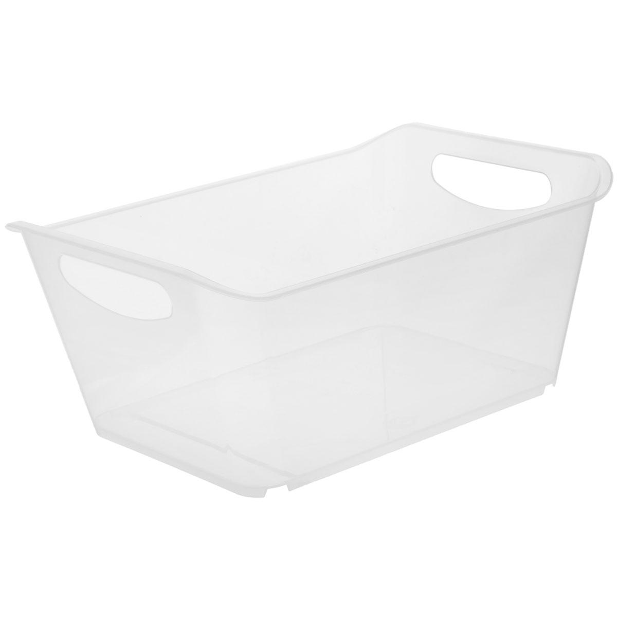 Контейнер Gensini, цвет: прозрачный, 10 л3332_прозрачныйКонтейнер Gensini выполнен из прочного пластика. Он предназначен для хранения различных мелких вещей в ванной, на кухне, даче или гараже, исключая возможность их потери. По бокам контейнера предусмотрены две удобные ручки для его переноски.Контейнер поможет хранить все в одном месте, а также защитить вещи от пыли, грязи и влаги. Объем: 10 л.