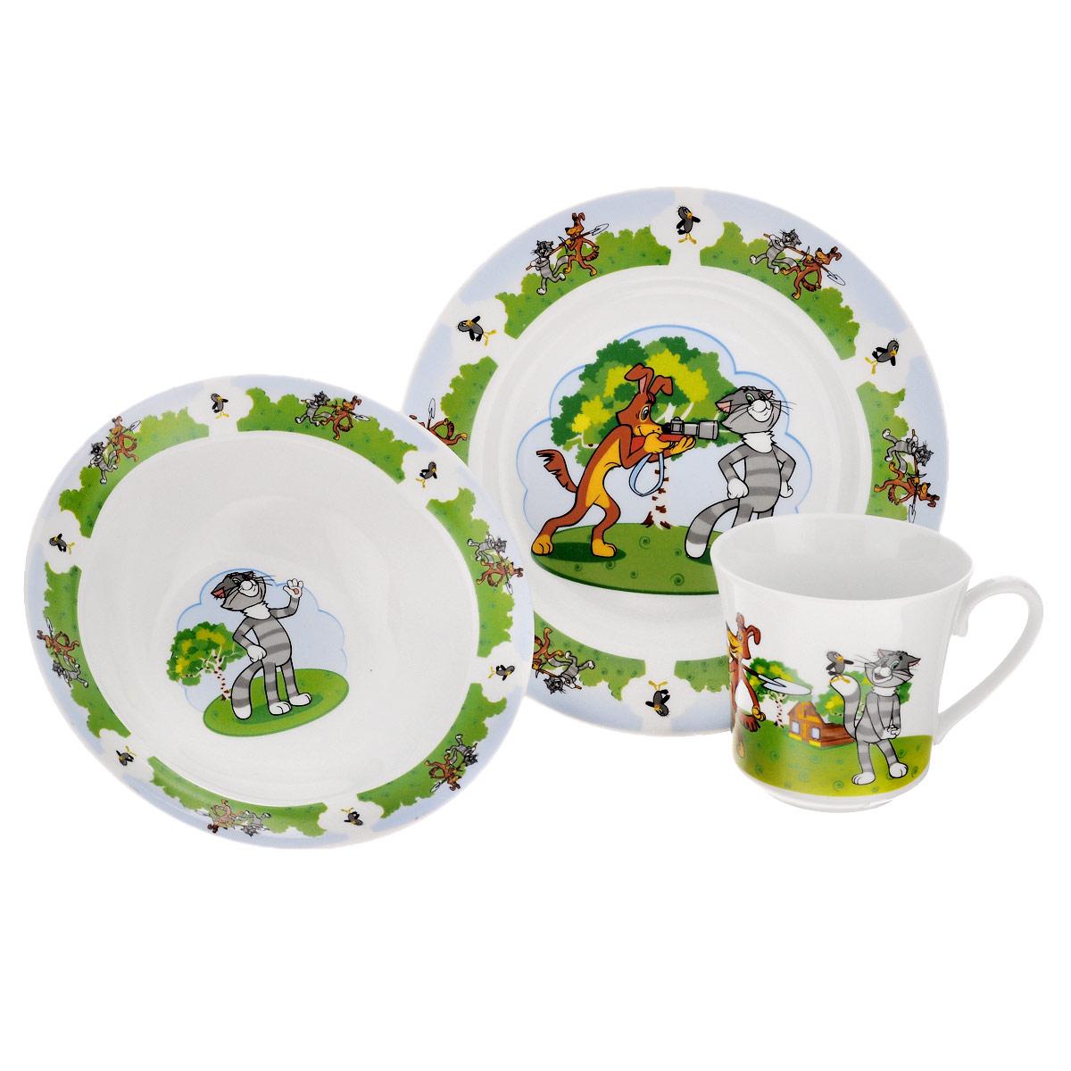 Набор детской фарфоровой посуды Союзмультфильм
