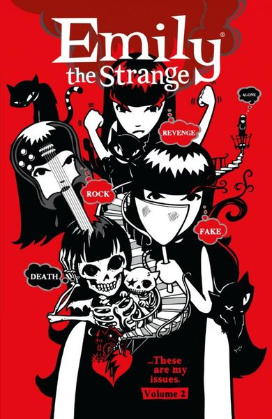 Emily the Strange Volume 2: Rock, Death, Fake, Revenge, and Alone emily d11a comfort 12c3