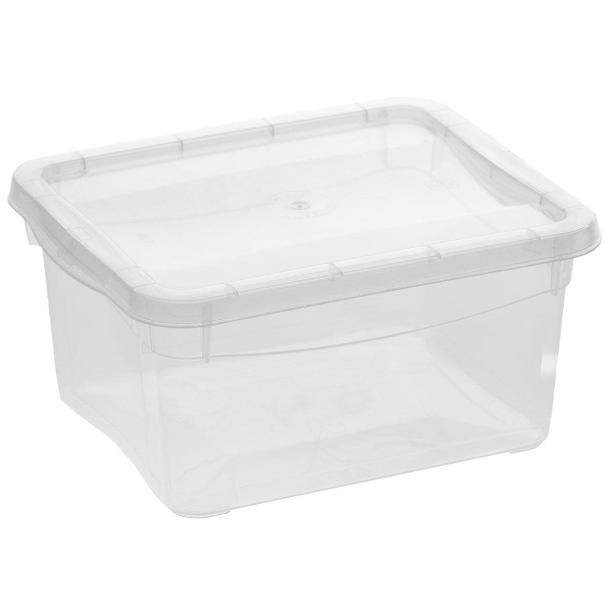 Ящик универсальный Econova Кристалл, 2 лС12491Прямоугольный ящик Econova Кристалл выполнен из высококачественного прозрачного полипропилена. Ящик плотно закрывается крышкой и оснащен ручками для удобной переноски. Ящик Econova Кристалл очень вместителен и поможет вам хранить все необходимые мелочи в одном месте.