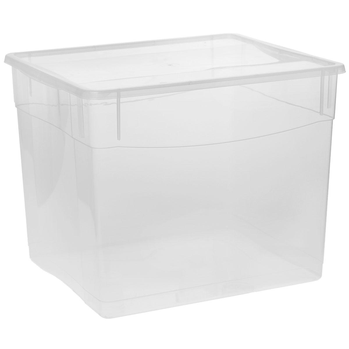Ящик универсальный Econova Кристалл, 40 х 33,5 х 31,5 смС12815Прямоугольный ящик Econova Кристалл выполнен из высококачественного прозрачного полипропилена. Ящик плотно закрывается крышкой и оснащен ручками. Подходит для хранения одежды и различных бытовых вещей. Ящик Econova Кристалл очень вместителен и поможет вам хранить все необходимое в одном месте. Объем: 34 л.