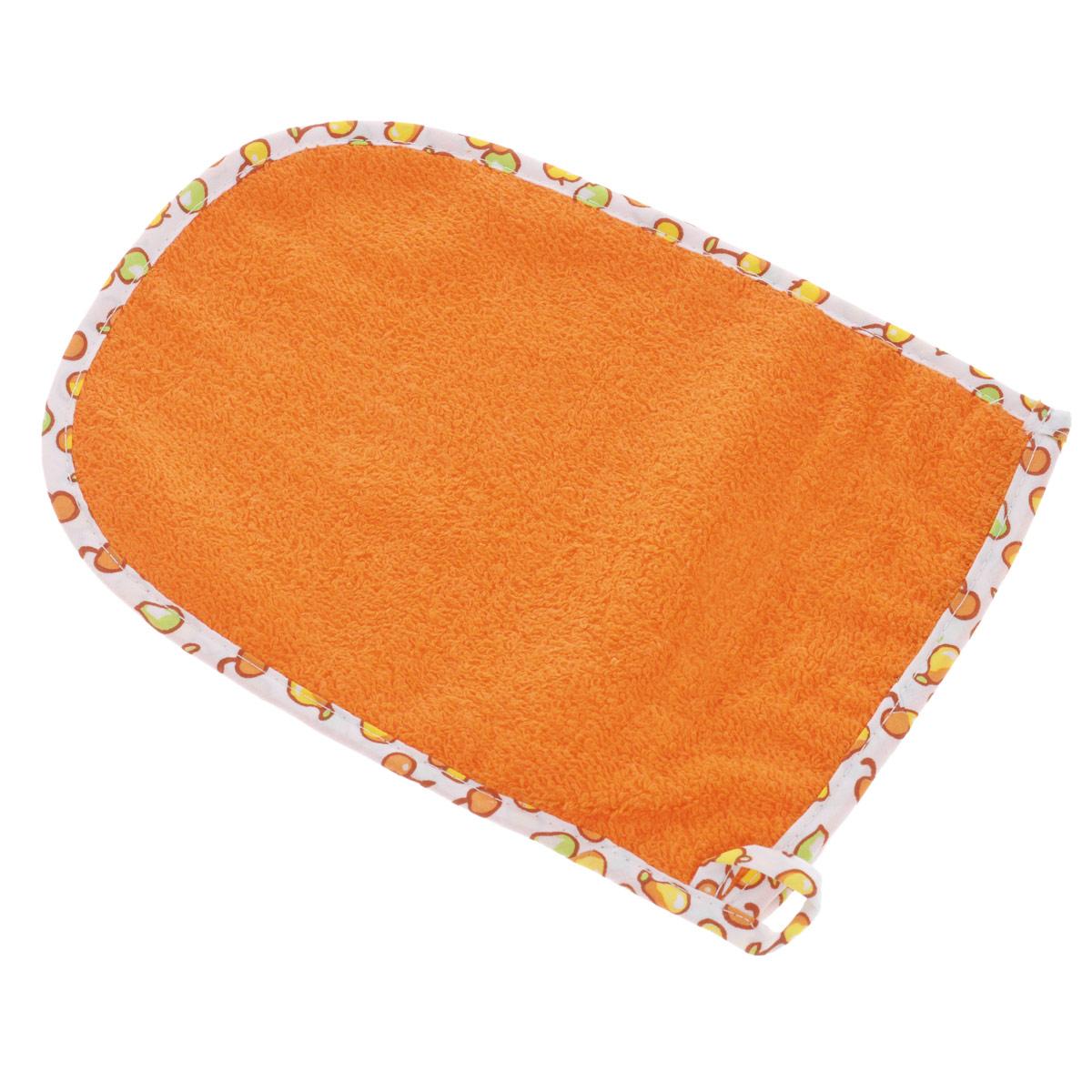 Варежка-мочалка Мир детства, цвет: оранжевый цена