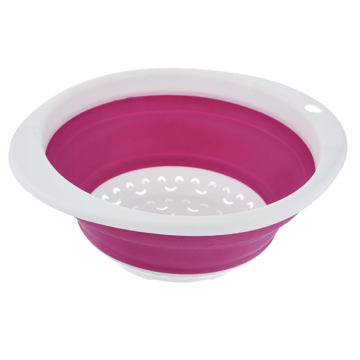Дуршлаг складной Oriental Way, цвет: розовый, 23 см х 21 см дуршлаг gipfel складной цвет красный диаметр 25 см