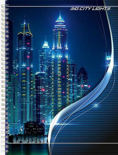 Academy Style Тетрадь в клетку Big city lights, 80 листов, формат А4, цвет: синий7433/2Универсальная тетрадь Big city lights подойдет как для учебы, так и для работы. Обложка тетради выполнена из мелованного картона с ярким изображением ночных небоскребов.Внутренний блок состоит из 80 листов белой офсетной бумаги на гребне со стандартной линовкой в клетку без полей.
