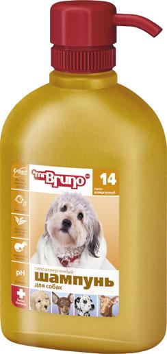 Шампунь-кондиционер для собак Mr. Bruno, гипоаллергенный, 350 мл mr bruno mr bruno ошейник репеллентный для собак 75 см зеленый