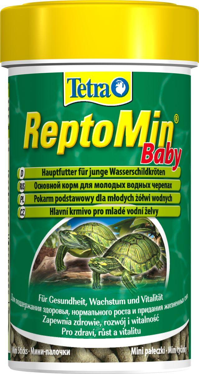 Корм Tetra ReptoMin Baby для молодых водных черепах, 100 мл островок для водных черепах киев