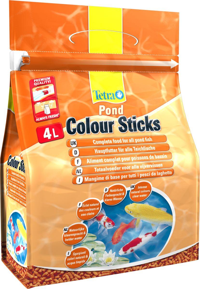 Корм сухой Tetra Pond. Color Sticks для всех видов прудовых рыб, палочки, 4 л (750 г) корм tetra tetramin xl flakes complete food for larger tropical fish крупные хлопья для больших тропических рыб 10л 769946