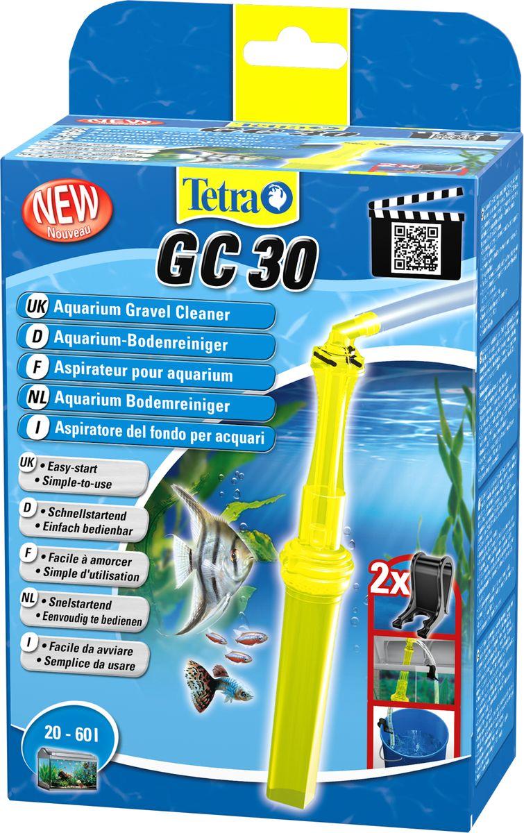 Грунтоочиститель для аквариумов Tetra GC 30 малый, 20-60 л762312Удобный, простой в использовании сифон для грунта.В комплект входит шланг длиной 180 см и две фиксирующие клипсы;Мощный клапан закачки воды;Защитная сетка позволяет избежать засасывания рыб и грунта;Новая поворотная ручка позволяет использовать сифон без перекручивания шланга;Конструкция наконечника позволяет очистку всех труднодоступных углов аквариума, в том числе, возле стекла;Удобная ручка для безопасного использования;Долгая эксплуатация.Гарантия 2 года.
