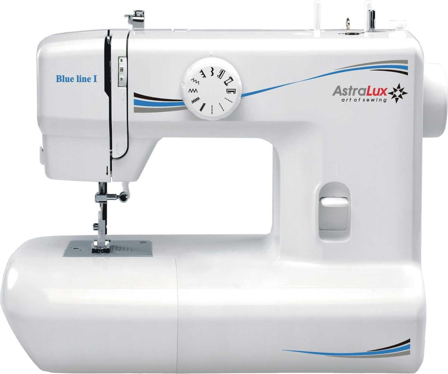 Astralux Blue Line I швейная машинаBlue Line IШвейная машина AstraLux Blue Line I - машинка для шитья, с современным элегантным дизайном. Имеет регулировку натяжения нити и способна работать с различными видами тканей. Имеет удобную светодиодную подсветку и встроенный нитеобрезатель. Рукавная консоль позволяет обрабатывать рукава, манжеты или штанины, а также любые детали с горловиной. Допускает шитье двойной иглой. Такая швейная машинка прекрасно подойдет для новичков. Легка в управлении имеет все необходимое для комфортной работы