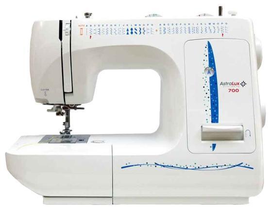 Astralux 700 швейная машина700Швейная машина AstraLux 700 — это удобная и компактная электромеханическая швейная машинка, которую по достоинству оценят любительницы шить. Множество функций, предусмотренных в этой модели, облегчат процесс работы. С помощью этой швейной машинки можно выполнять 35 видов рабочих строчек. С помощью этой швейной машинки вы сможете работать с различными по плотности типами ткани (от шелка до кожи).