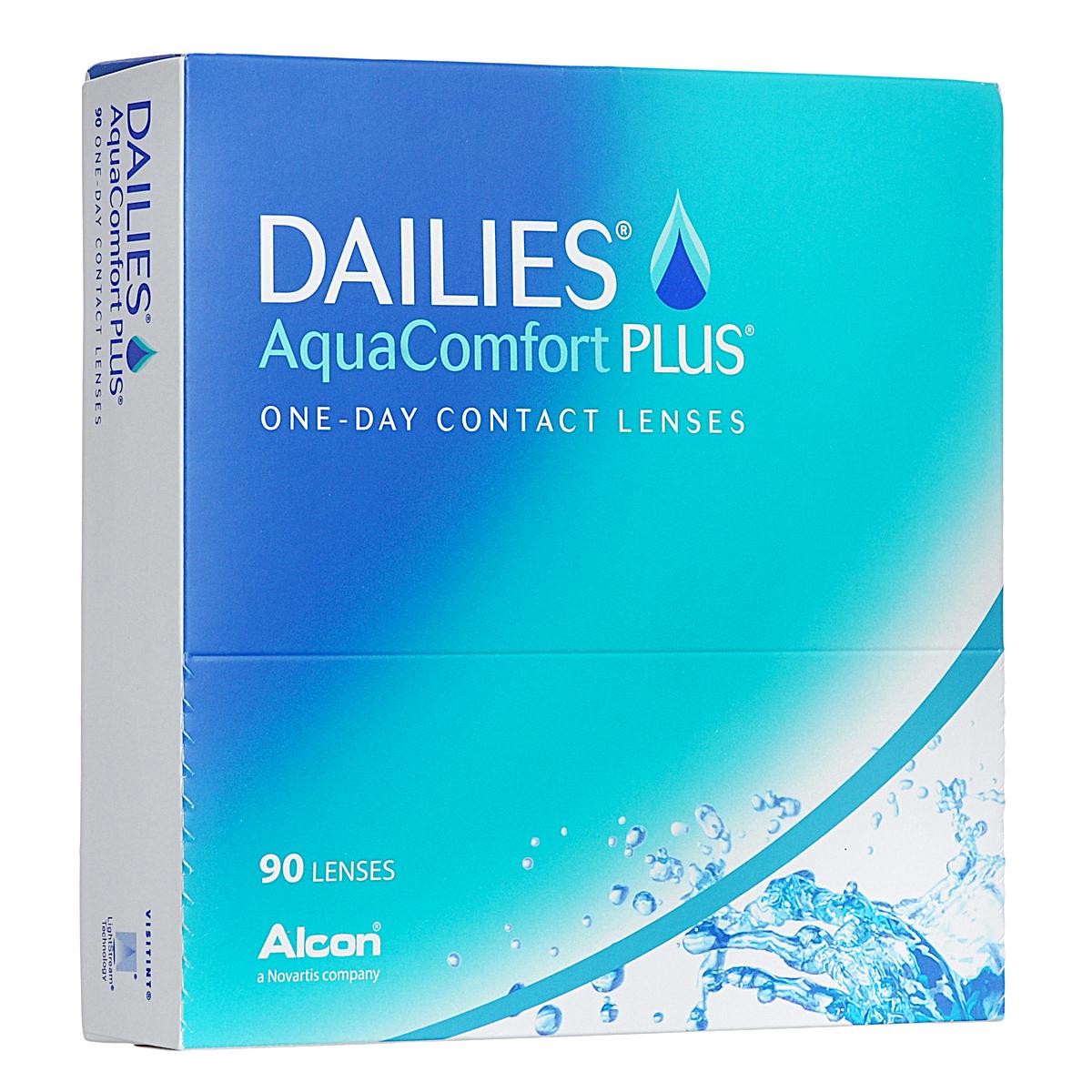Alcon-CIBA Vision контактные линзы Dailies AquaComfort Plus (90шт / 8.7 / 14.0 / -6.00) объективы и линзы