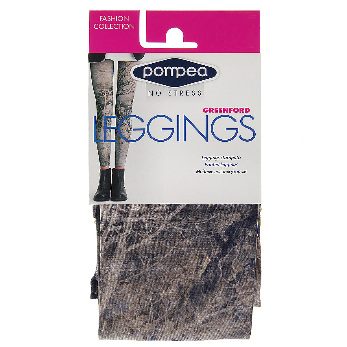 Леггинсы женские Pompea Leggings Greenford Fashion, цвет: Nature (природа). Размер 2 (1/2-S) женские леггинсы brand new 2015 1 dk045 leeging leggings