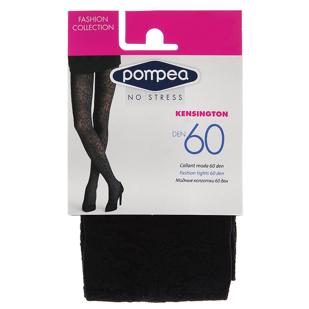 Купить Колготки женские Pompea Kensington Fashion, цвет: Nero (черный). 90768981. Размер 3-4 (3/4-M/L)