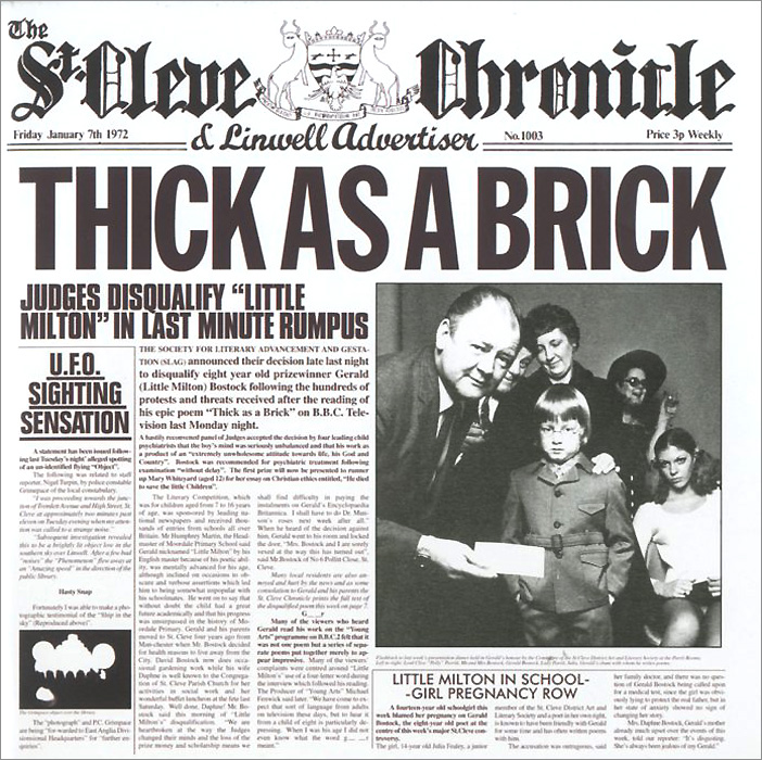 Jethro Tull Jethro Tull. Thick As A Brick jethro tull s ian anderson thick as a brick live in iceland blu ray