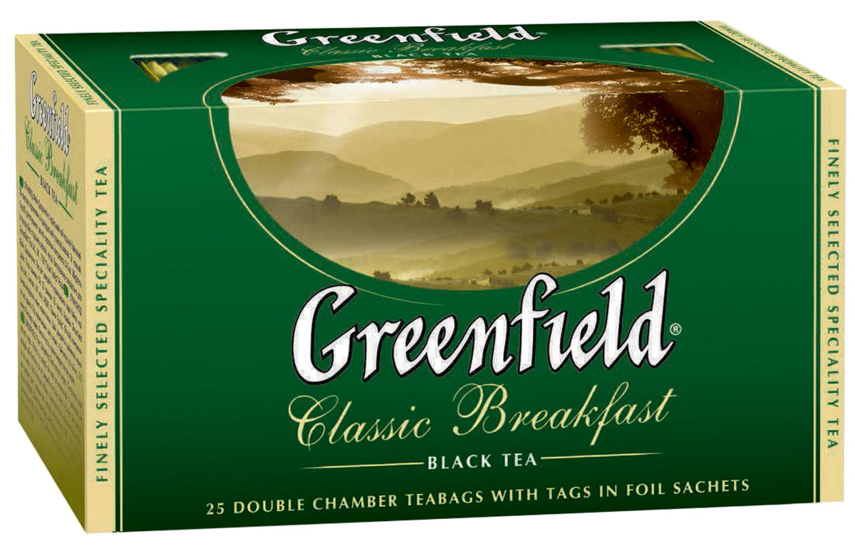Greenfield Classic Breakfast черный чай в пакетиках, 25 шт greenfield silver fujian черный чай в пакетиках 25 шт