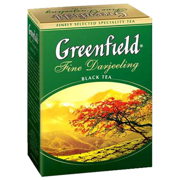 Greenfield Fine Darjeeling черный листовой чай, 100 г greenfield winter charm черный листовой чай с ароматом красных ягод и можжевельника 120 г