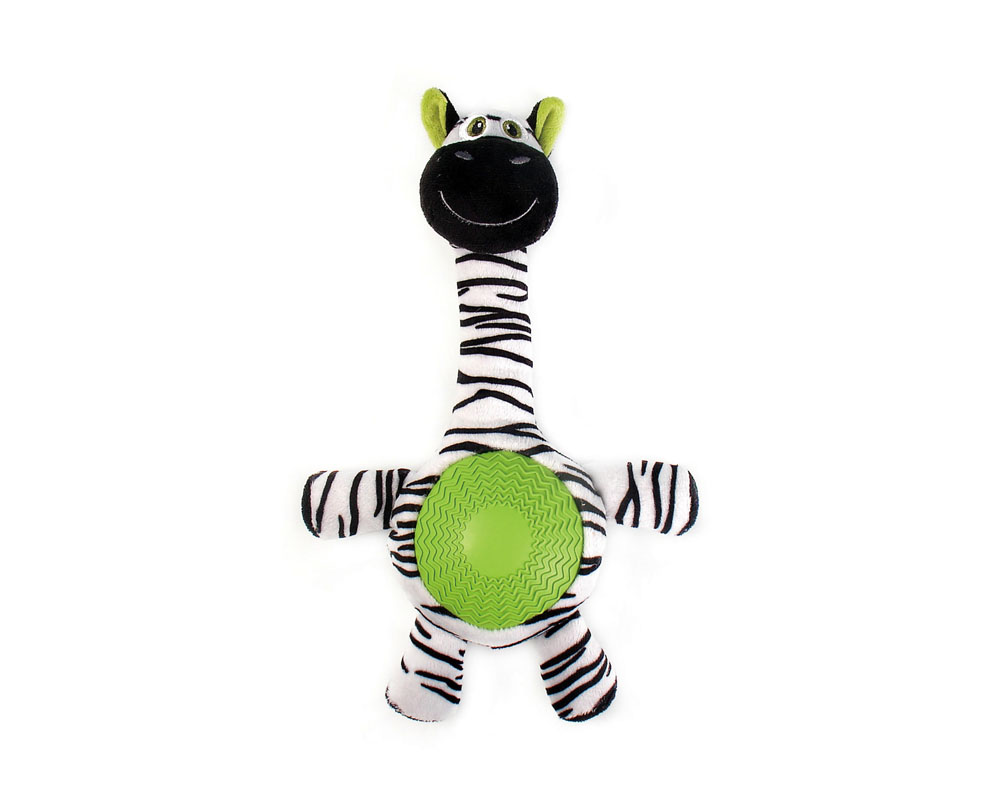 Игрушка для собак Aveva Зебра, с пищалкой13403Игрушка для собак Aveva, выполненная в виде забавной Зебры с пищалкой, изготовлена из резины с добавлением полиэстера. Такая игрушка позволит весело провести время вашему питомцу, а также поможет вам сохранить в целости личные вещи и предметы интерьера. Яркая игрушка привлечет внимание вашего любимца, не навредит здоровью, и займет его на долгое время. Высота игрушки: 21 см.Товар сертифицирован.