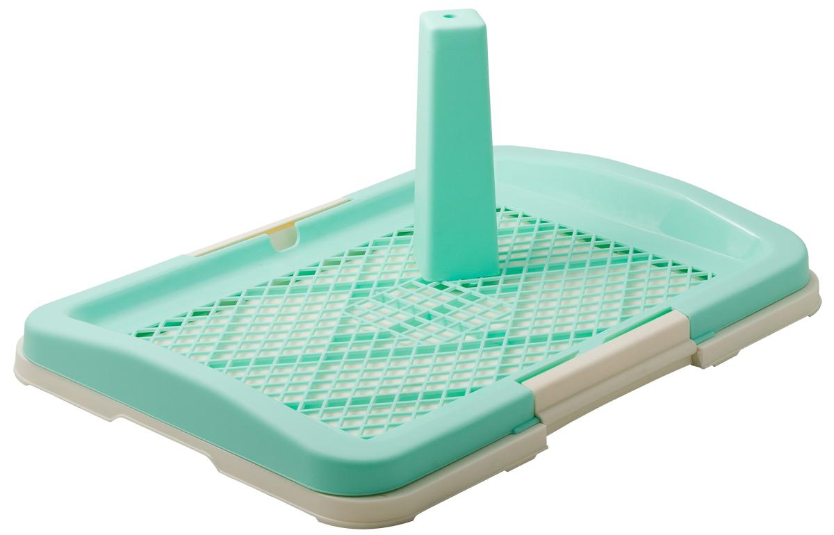 Туалет для собак V.I.Pet Японский стиль, со столбиком, цвет: зеленый, молочный, 48 х 35 х 5 смP159-01Туалет для собак V.I.Pet Японский стиль, изготовленный из нетоксичного пластика, предназначен для собак и щенков. Съемный столбик легко крепится на решетку и позволяет применять туалет независимо от пола собаки. Гигиеническая пеленка (не входит в комплект) помещается под решетку, которая удерживается боковыми фиксаторами. Туалет легко моется водой.