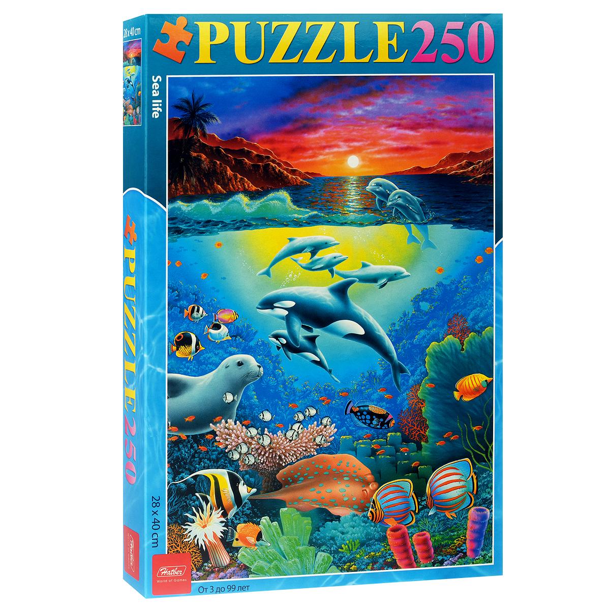 Морской мир. Пазл, 250 элементов