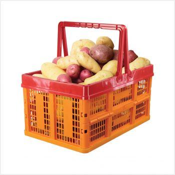Ящик универсальный Альтернатива, раскладной, 38,5 х 25,5 смМ1834Универсальный ящик изготовлен из высококачественного пластика. Изделие предназначено для хранения и транспортировки овощей. Ящик оснащен ручками для переноски. При необходимости его можно сложить. Ящик компактный, он не займет много места.