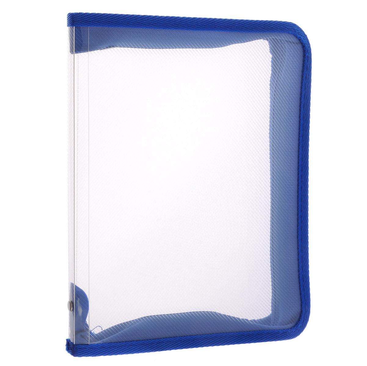 Папка Erich Krause, на молнии, цвет: синий, прозрачный. Формат А450120Папка Erich Krause - это удобный и функциональный офисный инструмент, предназначенный для хранения и транспортировки рабочих бумаг и документов формата А4, а также тетрадей и канцелярских принадлежностей. В папке одно вместительное отделение.Папка изготовлена из прочного высококачественного пластика, закрывается на круговую застежку-молнию. Папка состоит из одного отделения. Папка оформлена оригинальным принтом в виде мелкой клетки. Папка имеет опрятный и неброский вид. Края папки отделаны полиэстером, а уголки имеют закругленную форму, что предотвращает их загибание и помогает надолго сохранить опрятный вид обложки.Папка - это незаменимый атрибут для любого студента, школьника или офисного работника. Такая папка надежно сохранит ваши бумаги и сбережет их от повреждений, пыли и влаги. Надежная застежка-молния вокруг папки обеспечивает максимальный комфорт в использовании изделия, позволяя быстро открыть и закрыть папку.